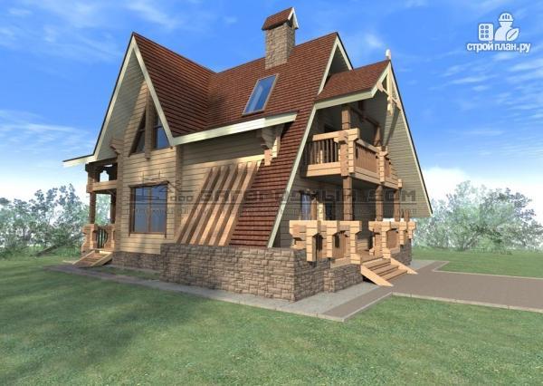 Фото 4: проект брусовой дом с балконом