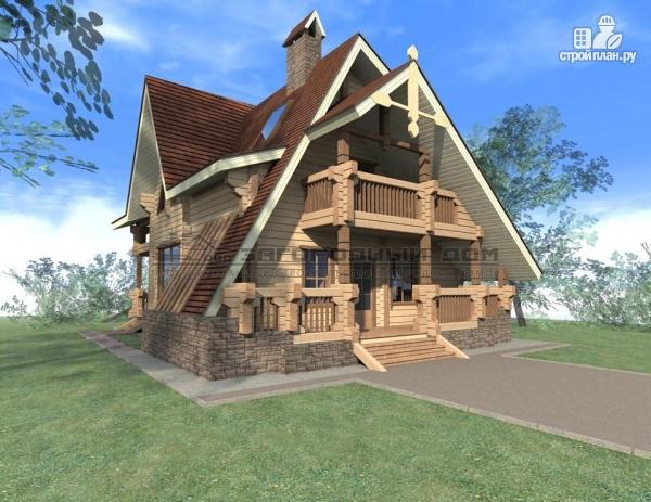Фото: проект брусовой дом с балконом