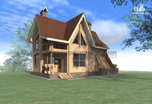 Фото 6: проект брусовой дом с балконом