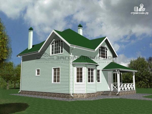 Фото 4: проект дом из бруса с зимним садом и террасой