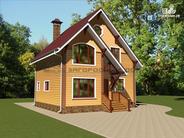 Фото 5: проект деревянный дом из бруса с террасой