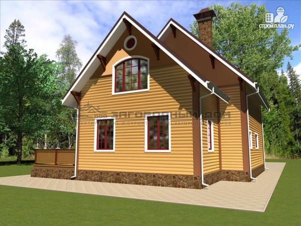 Фото 4: проект деревянный дом из бруса с террасой