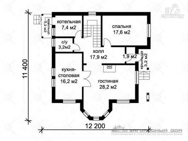 Фото 2: проект двухэтажный дом с эркером