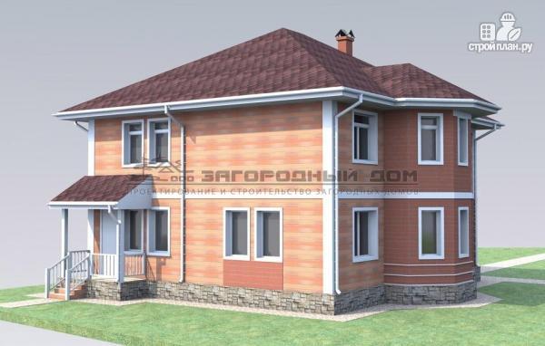 Фото 5: проект двухэтажный дом с эркером