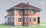 Фото: двухэтажный дом с эркером