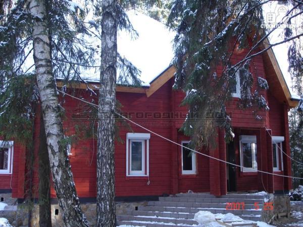 Фото 6: проект загородный дом с камином в двухсветной гостиной