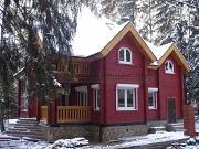 Проект загородный дом с камином в двухсветной гостиной
