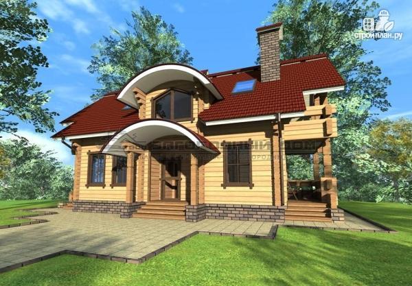Фото: проект дом из бруса с мансардой