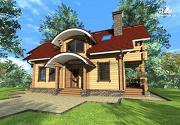 Фото: дом из бруса с мансардой