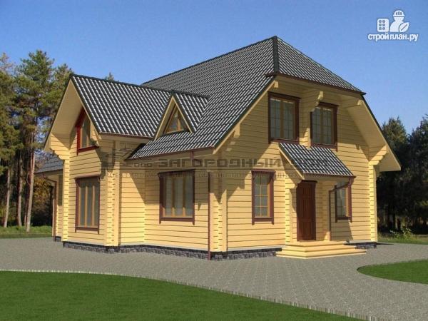 Фото: проект брусовой дом для большой семьи