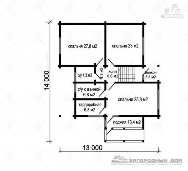 Фото 3: проект большой дом с большими террасами и балконом