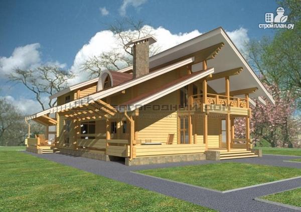 Фото: проект большой дом с большими террасами и балконом