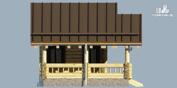 Фото 5: проект бревенчатая сауна с террасой