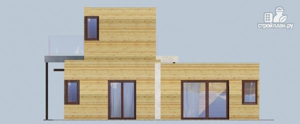 Фото 5: проект миниотель с террасой и балконом