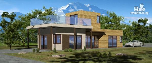 Фото: проект миниотель с террасой и балконом