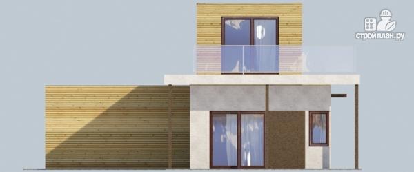 Фото 6: проект миниотель с террасой и балконом