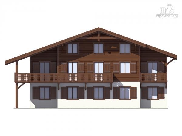 Фото 5: проект трехэтажный миниотель с балконами