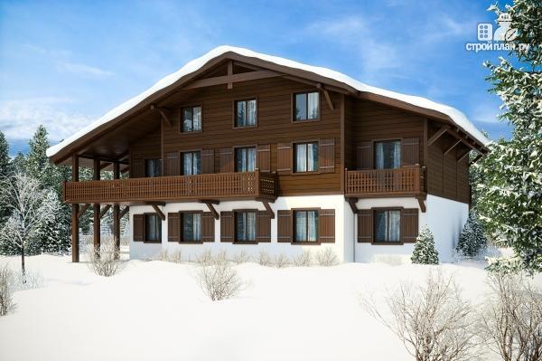 Фото: проект трехэтажный миниотель с балконами