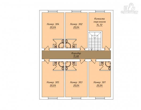 Фото 4: проект трехэтажный миниотель с балконами