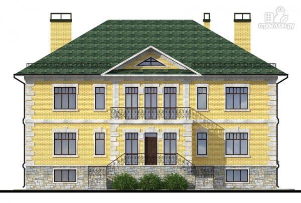 Фото: проект трехэтажный миниотель с балконом, небольшой террасой и сауной