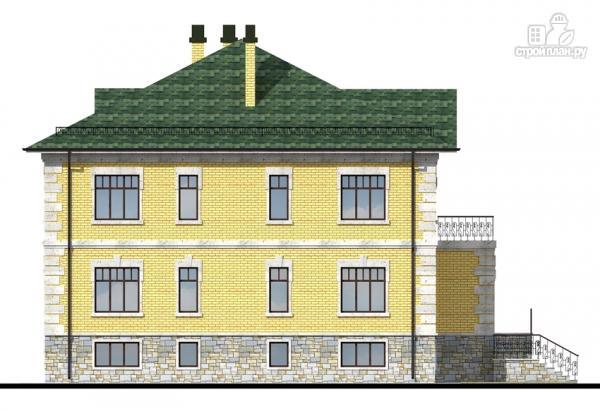 Фото 5: проект трехэтажный миниотель с балконом, небольшой террасой и сауной