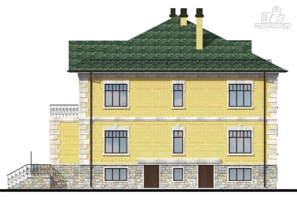 Фото 6: проект трехэтажный миниотель с балконом, небольшой террасой и сауной