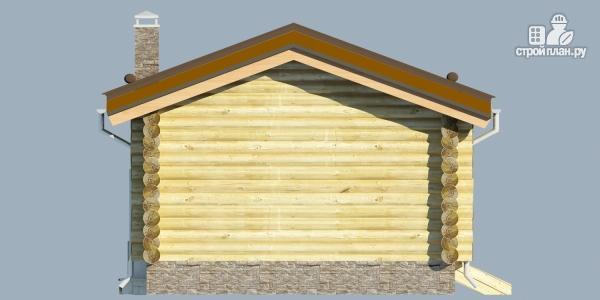 Фото 6: проект деревянная баня с террассой