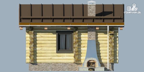 Фото 5: проект деревянная баня с террассой