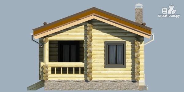 Фото 3: проект деревянная баня с террассой