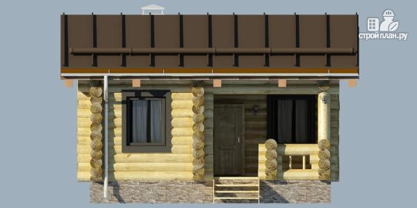 Фото 4: проект деревянная баня с террассой