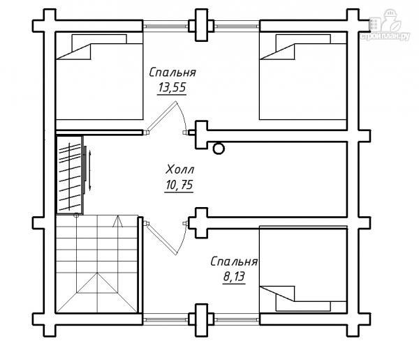 Фото 3: проект бревенчатый дом-баня с мансардным этажом
