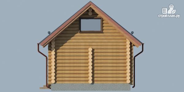 Фото 7: проект бревенчатый дом-баня с мансардным этажом