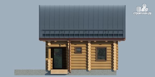 Фото 6: проект бревенчатый дом-баня с мансардным этажом