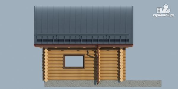 Фото 5: проект бревенчатый дом-баня с мансардным этажом