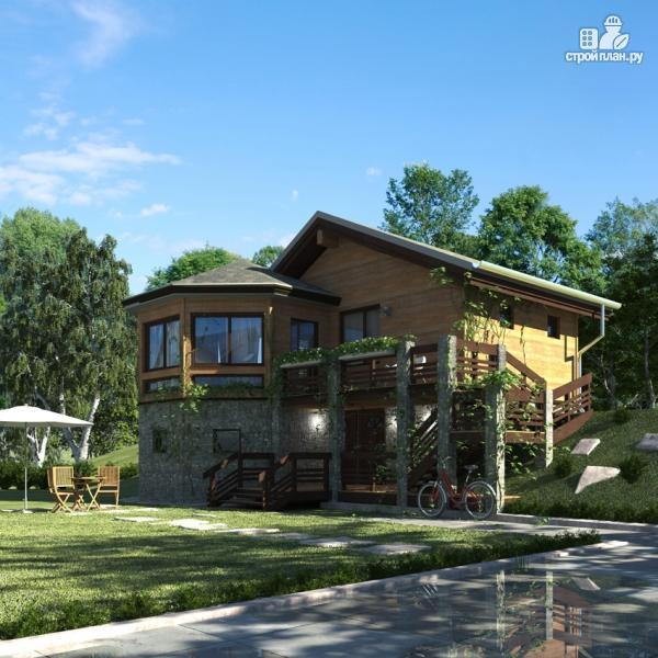 Фото 3: проект дом из дерева с баней и турецкой парной