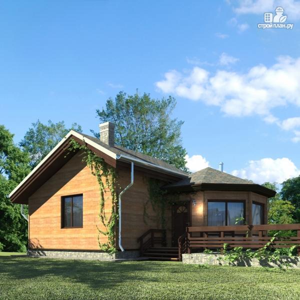 Фото 2: проект дом из дерева с баней и турецкой парной