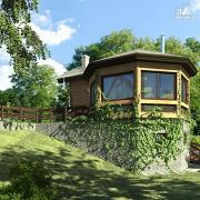 Фото: дом из дерева с баней и турецкой парной