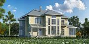 Проект дом из газобетона со вторым светом в гостиной и зимним садом