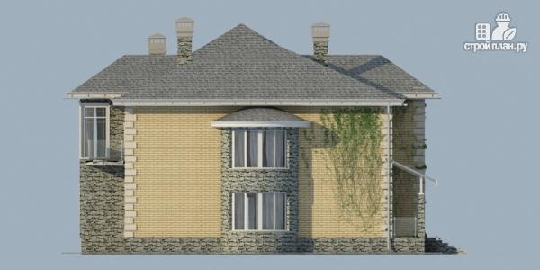 Фото 4: проект дом из газобетона со вторым светом в гостиной и зимним садом