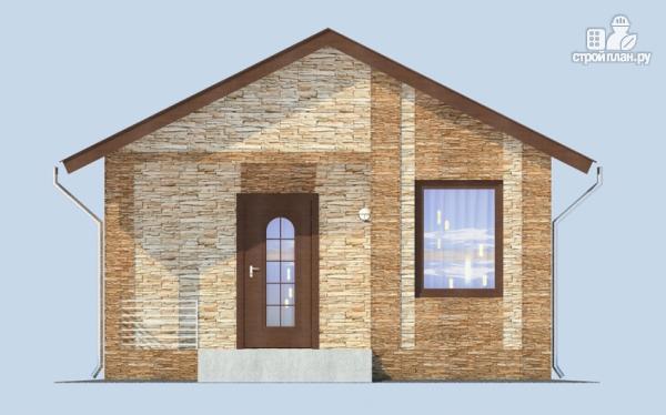 Фото 3: проект компактный одноэтажный дом