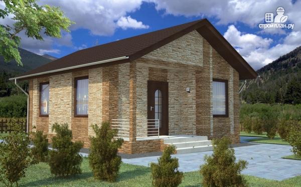Фото: проект компактный одноэтажный дом