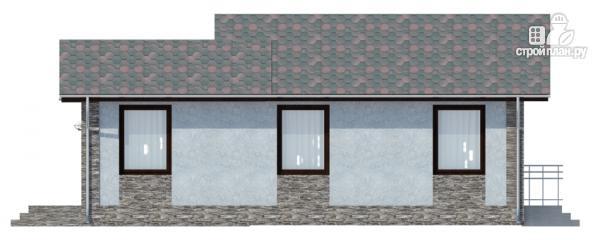 Фото 3: проект одноэтажный дом с террасой