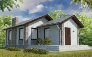 Проект одноэтажный дом с террасой