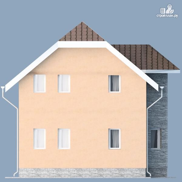 Фото 7: проект каркасный дом с мансардным этажом и балконом