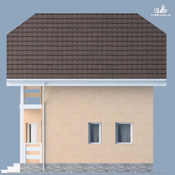 Фото 6: проект каркасный дом с мансардным этажом и балконом
