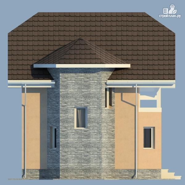 Фото 5: проект каркасный дом с мансардным этажом и балконом