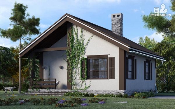 Фото: проект одноэтажный дом из газобетона