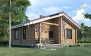 Проект деревянный одноэтажный дом