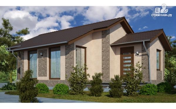 Фото: проект загородный дом с террасой