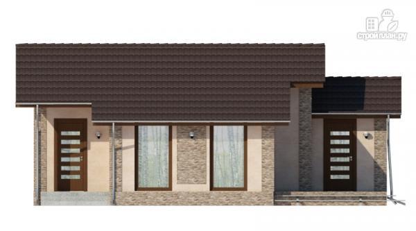 Фото 3: проект загородный дом с террасой